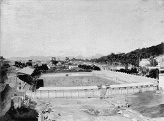 Foto do Estádio ainda em construção 1917/1918