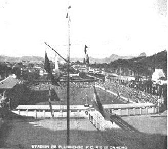 Totalmente pronto, era o primeiro estadio construído no Brasil
