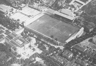 Vista aérea do maravilhoso e inédito Estadio