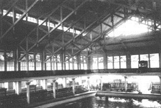 A piscina construída em 1919